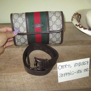 Vintage Gucci GG Shelly Line Bum Bag Waist Pouch